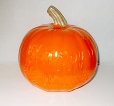 Orange Jackolantern Happy Halloween Lightup Decor 8 NWT -- Be sure to check out this awesome product.
