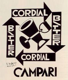 Depero and black and white Campari. www.italianways.com/depero-and-black-and-white-campari/