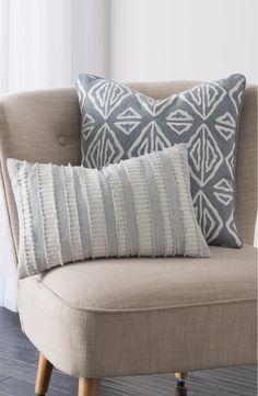 Adoring these cool and modern accent pillows for the home.