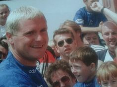 Gazza and Fans. Rangers Fc, Great Team, Football Soccer, Glasgow, Fifa, 1990s, World Cup, Growing Up, Acting
