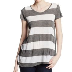 KENSIE Sz XL Gray Short Sleeve Striped Blouse NWT •Manufacturer: Kensie •Size: XL •Size Origin: US •Manufacturer Color: Heather Dark Grey Combo •Retail: $39.00 •Condition: New with tags •Style Type: Blouse •Collection: Kensie •Sleeve Length: Short Sleeve •Material: 100% Viscose •Fabric Type: Viscose •Specialty: Striped Kensie Tops Blouses