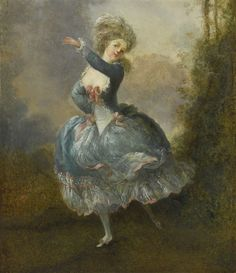 Artwork by Jean-Frederic Schall, MADEMOISELLE DUTHÉ DANCING (ROSALIE GÉRARD, 1752-1820)