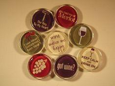 WineThemed Refrigerator Magnets Set of 8 Fridge by DLRjewelry, $16.00