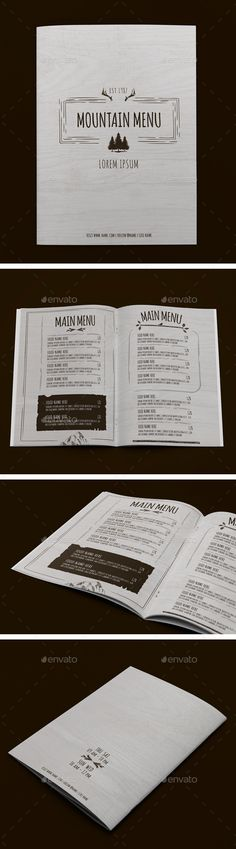 Mountain Menu Template #design Download: http://graphicriver.net/item/mountain-menu/12632341?ref=ksioks