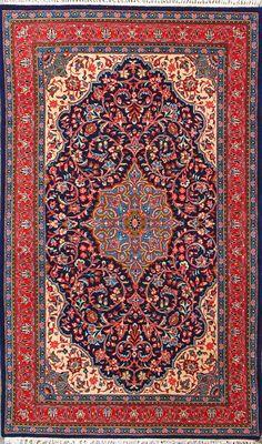 """Sarough Persian Rug - 4' 3"""" x 7' 5"""""""