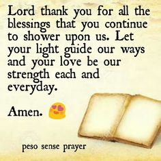 Thank you for the blessings