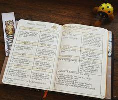 My Personal Inventory in my bullet journal #bulletjournal #bujo #planner