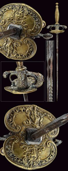 A composite dagger.   provenance: Germany, dating: first quarter of the 19th Century.