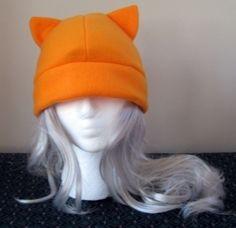 Cosplay Kitty Cat Ears Warm Beanie Costume Hat - Orange Fruits Basket Kyo $15.95