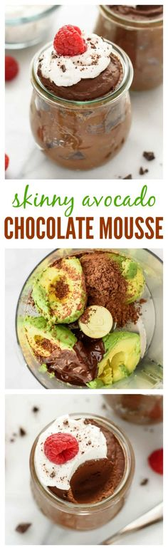 Avocado chocolate mousse is not just healthier chocolate mousse; it is also one of the easiest chocolate mousse recipes you will ever make!  A dairy-free, gluten-free, refined-sugar free, vegan dessert that is ready to eat in 5 minutes! #healthydesserts #chocolate #glutenfree #dairyfree #vegan