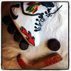 Roller hockey cake