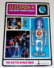 COLORFORMS OUTER SPACE MEN ELECTRON + MINT CARDED VINTAGE ACTION FIGURE  Christmas 1966 or 67