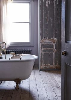 and of course a clawfoot tub for soaking after hikes in the woods. - sfgirlbybay / bohemian modern style from a san francisco girl Bad Inspiration, Bathroom Inspiration, Bathroom Ideas, Houzz Bathroom, Das Haus In Montevideo, Interior And Exterior, Interior Design, Interior Stylist, Interior Modern