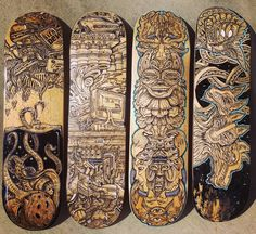 Its been so much fun working in these colourless skateboard commissions // #skate // #skateboard // #ink // #intricate // #Illustration // #posca // #psychedelic // #trippy // #surrealism // #detailed // #handpainted // #totem // #mechanical // #organic // #dog //