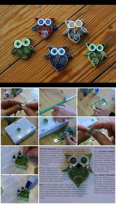 How to Make a Quilled Owl | UsefulDIY.com