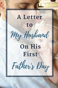 My husband is so many things to our little family: a steadying force and tender source of love, an example of masculinity and true parenting partner. Happy first Father's Day to my husband and to wonderful dads everywhere. Fathers Day Letters, 1st Fathers Day Gifts, Letters To My Husband, Fathers Day Crafts, Gifts For Dad, Grandparent Gifts, Father's Day Gifts, Happy Father's Day Husband, Fathers Day Ideas For Husband