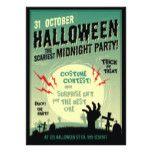 Halloween Scariest Zombie Midnight Party Card #halloween #happyhalloween #halloweenparty #halloweenmakeup #halloweencostume