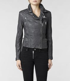 AllSaints Cargo Biker Jacket | Womens Biker Jackets a leather jacket that does not looks baggy is important, You still have that boy look but it's still sexy