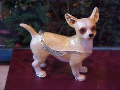 CHIHUAHUA BEJEWELED ENAMEL TRINKET BOX 3936 in Chihuahua | eBay