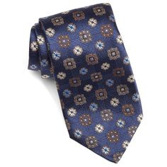 Men's David Donahue Medallion Silk Tie (€105) ❤ liked on Polyvore featuring men's fashion, men's accessories, men's neckwear, ties, mens ties and mens silk ties