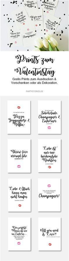 DIY Geschenk zum Valentinstag für Sie und Ihn, kreative Geschenkidee für den Valentinstag mit diesen Freebie Karten und Poster zum runterladen