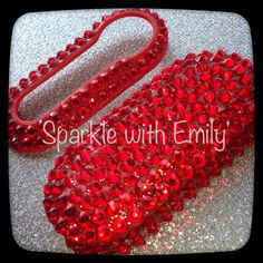 SWAROVSKI ACCESSORIES - Sparkly Fiat 500 Car Key Cover in Red - Sparkle with Emily