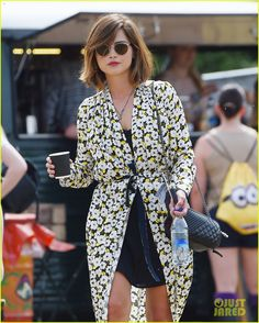 Jenna Coleman & Suki Waterhouse Hit Up Glastonbury Festival: Photo #3403593. Jenna Coleman and Suki Waterhouse opt for totally different looks as they walk around during day two of the 2015 Glastonbury Festival on Saturday (June 27) in Somerset,…