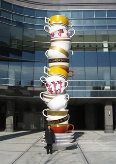 This piece by Choi Jeong Hwa is called 'Dream Tower'. It was installed in Daegu, South Korea in 2009.