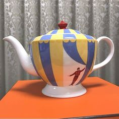 Authentic item / Made in France. Condition: Used / Mint condition / with box. Circus Clown, China China, China Dinnerware, Roberto Cavalli, Tea Time, Hermes, Tea Pots, Shabby Chic, Cups