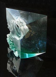 Petr Stacho - Twister, 2011 cast glass, 27x25x9cm