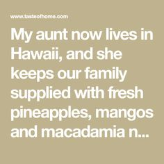 "My aunt now lives in Hawaii, and she keeps our family supplied with fresh pineapples, mangos and macadamia nuts...along with recipes like this one. When I run out of macadamias for candy-making, I substitute pecans. Whichever nuts I use, neighbors like this fudge so much that they have started to call me the ""Candy Lady of Cleveland."" —Vicki Fioranelli, Cleveland, Mississippi Gluten Free Chocolate, Chocolate Desserts, Chocolate Cake, No Bake Desserts, Delicious Desserts, Dessert Recipes, Fudge Recipes, Baking Recipes, Christmas Sweets"