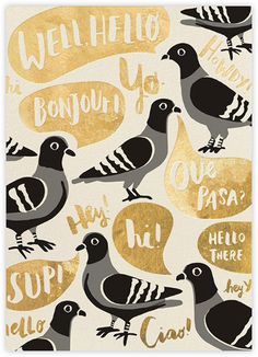 Pigeon Says Hi - Paperless Post