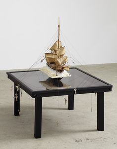 Finding The New World With An Old Boat     Mixed Media     Bo Christian Larsson    Galleri Bo Bjerggaard