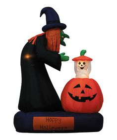 Take a look at this Witch & Rising Ghost Inflatable Light-Up Lawn Decoration by BZB Goods on #zulily today!