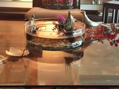 Coffee table with fish bowl