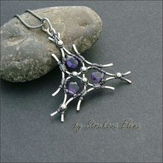 "looks like 3 snowshoes that I would divided into pendant and cuff or clip ons ~ Strukova Elena ~""~"