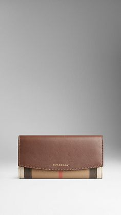 New Wallet - Leather and House Check Continental Wallet  1bb107a2766da