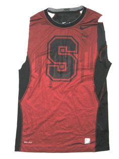 faeffecab41 AJ Tarpley Game Worn   Signed Stanford Cardinal Nike Pro Combat Dri-FIT 2XL  Sleeveless