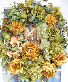 Tuscan Wreath by www.petalpusherswreaths.com.