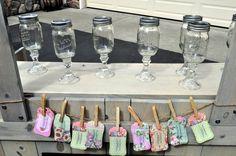 Mason jars turned wine glasses