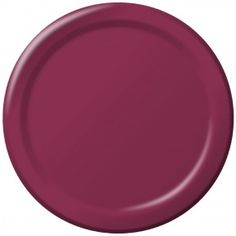 """Disposable Burgundy 6.75"""" Paper Dessert Plates - Box of 240 Paper Plates  Product # :793122B. $15.29"""