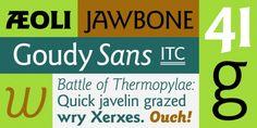 ITC Goudy Sans® font download