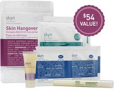 $25 Skin Hangover Kit.  includes: Hydro Cool Firming Eye Gels with Hexapeptide Technology 0.11 oz (2 pairs) Icelandic Relief Eye Pen with Glacial Flower Extract .14 oz the ANTIDOTE Cooling Daily Lotion 0.5 US fl oz Fresh Start Mask 0.28 oz (2 packettes)