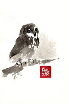 ALEXANDRE GUILLAUME aquarelle sur papier 200gr / watercolor on paper 200gr 13.5 x 21 cm