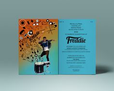 Freddie's Bar Mitzvah invite #invite #invitation #party #illustration #colour #drawing #drummer #photography #design #houseofdbdesign #bespoke #personalized #personalised #unique #graphicdesign