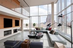 The Skyloft Penthouse in Tribeca by James Carpenter Design Associates and Rogers Marvel Architects - Simply breathtaking. No wonder it costs 45m. #House