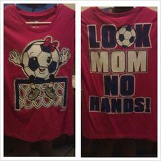 My daughter loves her soccer shirt