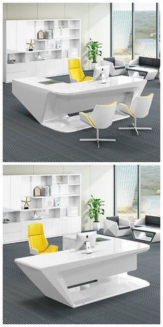 this is the modern design corian office desk Office Cabin Design, Office Reception Design, Modern Office Design, Office Furniture Design, Office Interior Design, Office Interiors, Medical Office Design, Luxury Office, Office Table