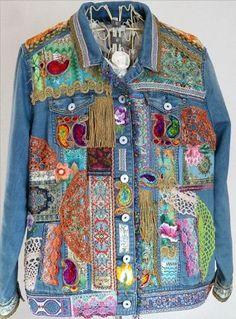 Jeansjacke, orientalisch aufgepeppt!