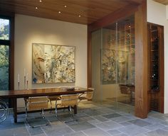 Hillsborough Residence - modern - wine cellar - san francisco - Charlie Barnett Associates